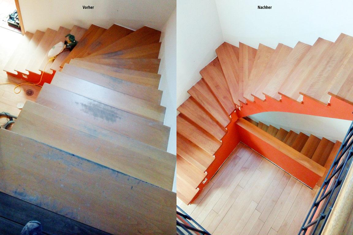 MM Parkett - Treppenaufgang Aufbereitung
